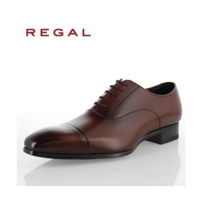 リーガル 靴 REGAL メンズ ビジネスシューズ 10LR BD ブラウン ストレートチップ 内羽根式 紳士靴 日本製 2E 本革