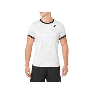 【P3倍+9%OFFクーポン】アシックス メンズ テニス ウェア CLUB グラフィック ショートスリーブトップ 2041A030 100