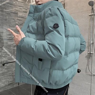 ダウンジャケット メンズ 冬 アウター ショート 厚手 ?量 あったかい 中綿ジャケット カジュアル 大きいサイズ 防水防寒 防風 保温