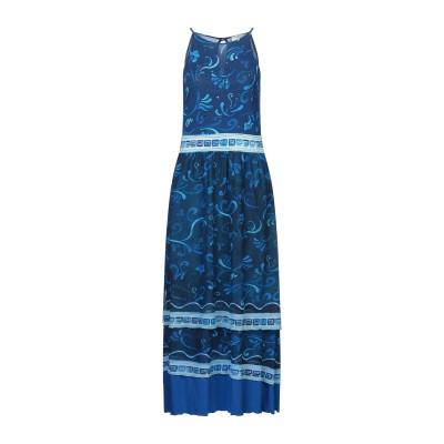 EAN 13 7分丈ワンピース・ドレス ブルー 42 ナイロン 93% / ポリウレタン 7% 7分丈ワンピース・ドレス