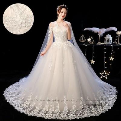 ウェディングドレス 長袖 安い aラインドレス ウエディングドレス 二次会 花嫁 パーティードレス 披露宴 ブライダル 結婚式 ロングドレス 秋冬 大きいサイズ