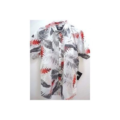 リップカール カジュアルシャツ トップス RIP CURL メンズ LEAFY S/S WOVEN SHIRT ホワイト M ミディアム D170 RP54.50
