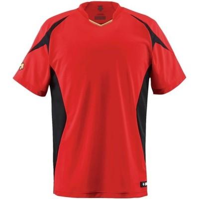 ベースボールシヤツ デサント(descente) ヤキュウソフトベースボールTシャツ (jdb116-red)