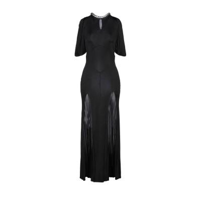 アティコ THE ATTICO ロングワンピース&ドレス ブラック 40 レーヨン 100% ロングワンピース&ドレス