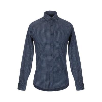 SOUL CAGE 柄入りシャツ ファッション  メンズファッション  トップス  シャツ、カジュアルシャツ  長袖 ブルー