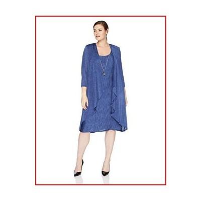 【新品】R&M Richards Women's 1 PCE Mock Crinkle Jersey Jacket and Dress, ?Navy, ?12【並行輸入品】