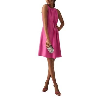 レイス レディース ワンピース トップス Reiss Nadia Midi Dress pink