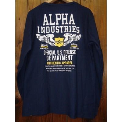 SALE!! ALPHAアルファ TC1376-104 L/S HERRINGBONE PRINT T‐SHIRT DEFENSE 長袖 ヘリンボーン生地 プリント Tシャツ ティーシャツ
