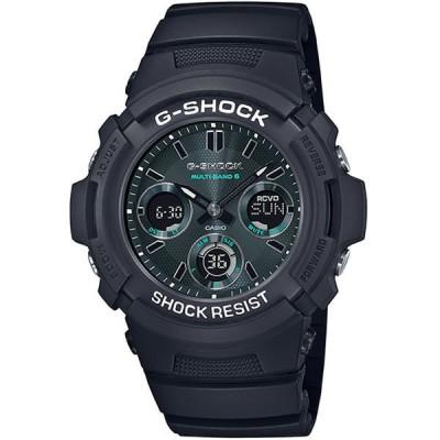 【国内正規品】カシオ CASIO 腕時計 AWG-M100SMG-1AJF G-SHOCK ジーショック ブラック&グリーン タフソーラー 電波修正 メンズ