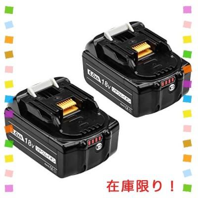 DOSCTT 互換品 マキタ 18v バッテリーbl1860b マキタ互換バッテリー マキタバッテリー 18v 6.0ah 大容量 【2個セット】4