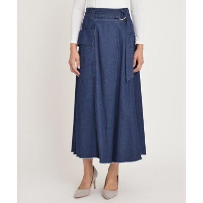 Divinique / フレア スカート WOMEN スカート > デニムスカート