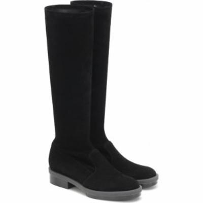 ロベール クレジュリー Clergerie レディース ブーツ シューズ・靴 road stretch suede boots Black