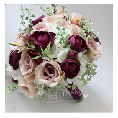 花ブーケウエディングブーケブライダルブーケウェディング用プレゼント写真撮り造花結婚式花嫁お誕生日披露宴お祝い大人気歓迎会手作り花束