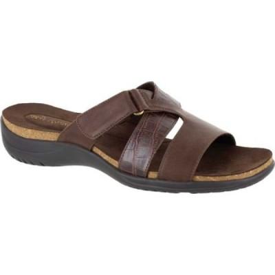 イージーストリート Easy Street レディース サンダル・ミュール スライドサンダル シューズ・靴 Frenzy Slide Sandal Brown Croco Synthetic
