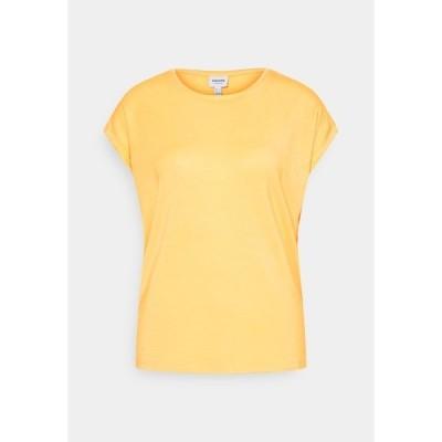 ヴェロモーダ Tシャツ レディース トップス VMAVA PLAIN - Basic T-shirt - cornsilk