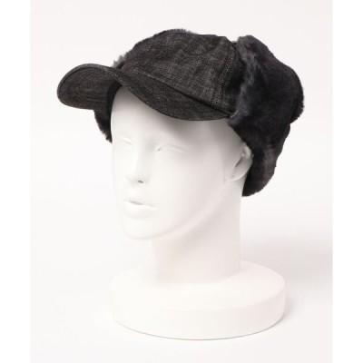 帽子 キャップ EAR COVER DENIM CAP/イヤーカバー デニムキャップ
