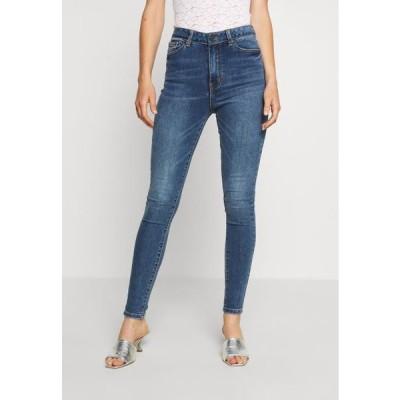 レディース ジーンズ OBJWIN - Jeans Skinny Fit - medium blue denim