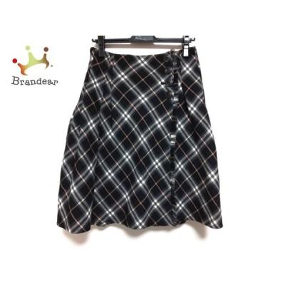 バーバリーブルーレーベル 巻きスカート サイズ38 M レディース 美品 黒×ピンク×マルチ  値下げ 20200802