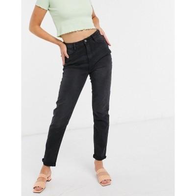 アーバン ブリス レディース デニムパンツ ボトムス Urban Bliss mom jeans in black Black