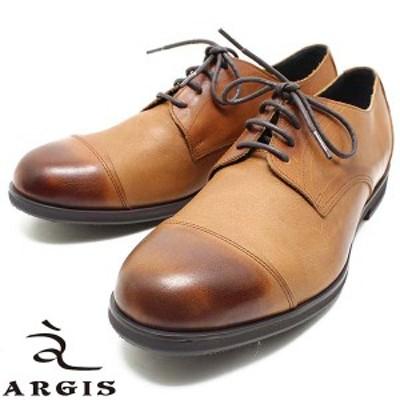 ARGIS/アルジス 81108 ソフトレザー4アイレット ギブソンシューズ ブラウン メンズ/レザー/ニッポンメイド/ストレートチップ/本革/日本
