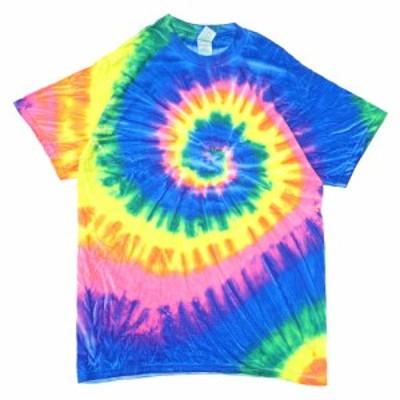 新品 ギルダン GILDAN Tie-Dye Multi Spiral Tee タイダイ Tシャツ FLO RAINBOW フロレインボーマルチ メンズ 半袖Tシャツ BUYERS PUSH