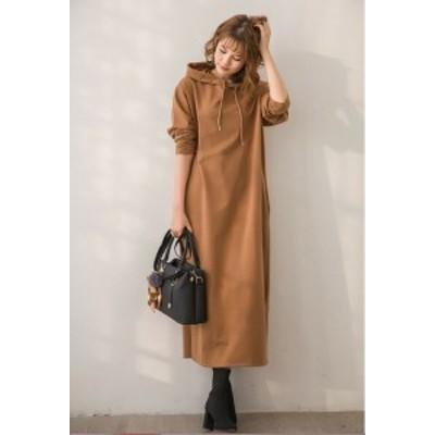 秋と冬 新しい レディース ファッション コーデが要らない 気質 ルーズ スリム ドレス マキシ丈ワンピース