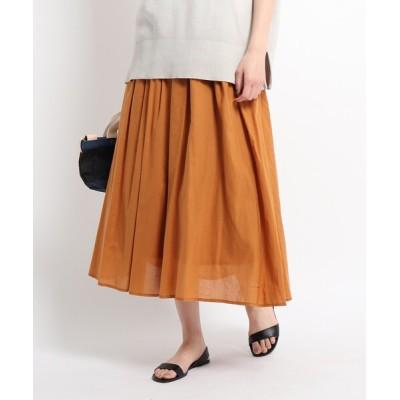 WORLD ONLINE STORE SELECT / 【S~L】コットンシルクギャザーフレアスカート WOMEN スカート > スカート