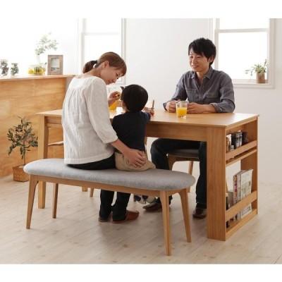 ダイニングセット 幅120 150 180 テーブル+チェア×2+ベンチ 4点セット 4人掛け 4人用 天然木オーク材エクステンションダイニング