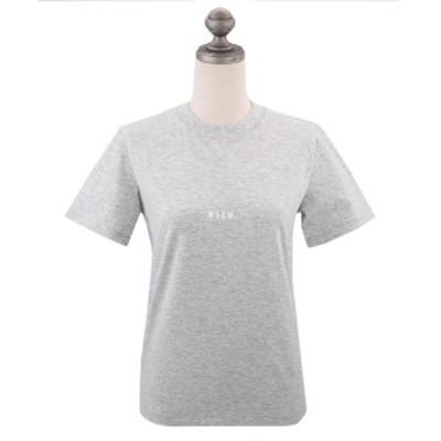 エムエスジーエム ロゴプリント Tシャツ 2019年春夏新作 MDM100 MICRO LOGO T-SHIRT レディース 半袖Tシャツ GREY グレー XS-M