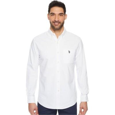 ユーエスポロアッスン U.S. POLO ASSN. メンズ シャツ トップス Classic Fit Long Sleeve Sport Shirt Optic White