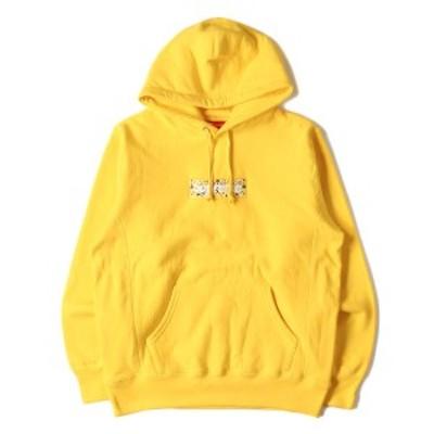 Supreme シュプリーム パーカー 19AW バンダナ BOXロゴ パーカー Bandana Box Logo Hooded Sweatshirt イエロー M 【メンズ】【K2629】