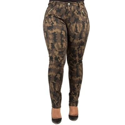 ポエティックジャスティス レディース デニムパンツ ボトムス Camouflage Zip Pocket Pant RINSECAMO