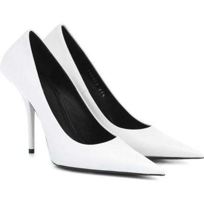 バレンシアガ Balenciaga レディース パンプス シューズ・靴 Square Knife leather pumps White