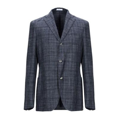 ボリオリ BOGLIOLI テーラードジャケット ブルーグレー 48 バージンウール 43% / シルク 32% / リネン 25% テーラードジャ