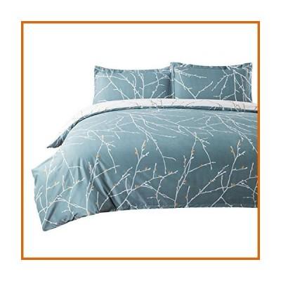 送料無料 Bedsure プリント入りファスナー開閉付き寝具セット 掛け布団カバーセット 非常に柔らかい