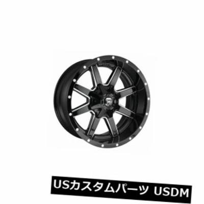 ホイール 4本セット 4 x 18x9 Fuel D610 Maverick ET 01 Black Milled 8x165.1 Whee