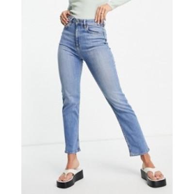 エイソス レディース デニムパンツ ボトムス ASOS DESIGN high rise sassy cigarette jeans in bright wash Bright wash