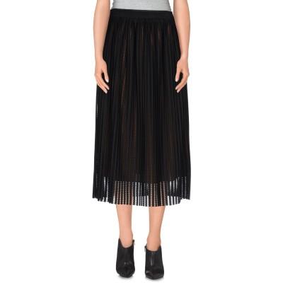 トラサルディ ジーンズ TRUSSARDI 7分丈スカート ブラック 40 ポリエステル 100% 7分丈スカート