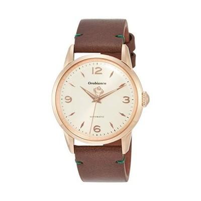 [オロビアンコ] 腕時計 エルディート ステンレススチール(ローズゴールドコーティング) アイボリー文字盤 レザー 自動巻き 38mm OR0073-1 メンズ ブラウン
