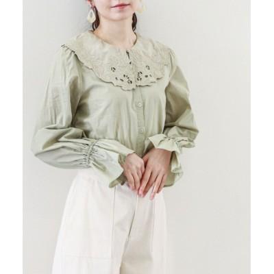 archives / 刺繍カラーブラウス WOMEN トップス > シャツ/ブラウス