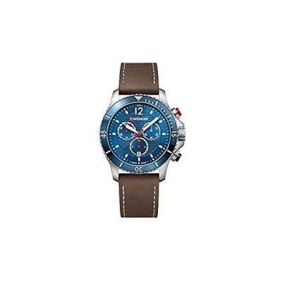 【新品未使用品】Wenger Seaforce Watch Blue Dial, Brown Leather Bracelet【並行輸入品】