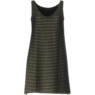 FISICO ミニワンピース&ドレス ブラック M ナイロン 65% / ポリウレタン 20% / Lurex® 15% ミニワンピース&ドレス