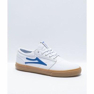ラカイ LAKAI レディース スケートボード シューズ・靴 griffin white and blue canvas skate shoes White