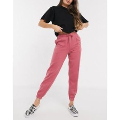 ニュールック レディース カジュアルパンツ ボトムス New Look seam detail co-ord sweatpants in berry Berry