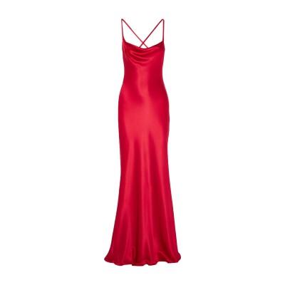 GALVAN  London ロングワンピース&ドレス レッド 40 シルク 100% ロングワンピース&ドレス