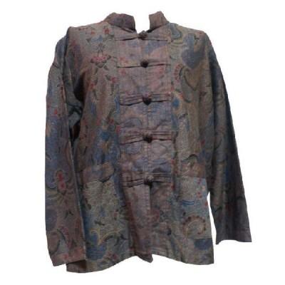 ブラウス アジアン衣料 バティック・チャイナ・ブラウス15 クリックポスト選択 送料200円