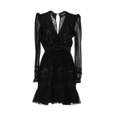 ジャストカヴァリ JUST CAVALLI ミニワンピース&ドレス ブラック 44 ポリエステル 100% / ナイロン / ポリウレタン / レー