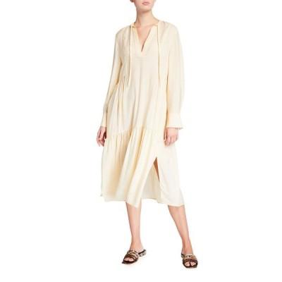 ヴィンス レディース ワンピース トップス Tiered Long-Sleeve Midi Dress