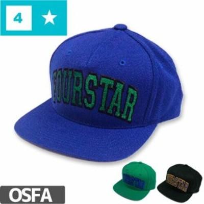 フォースター FOUR STAR スケボー キャップ ARCHED SNAP BACK HAT 刺繍 3カラー NO26