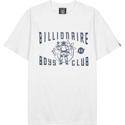 ビリオネアボーイズクラブ Billionaire Boys Club メンズ Tシャツ トップス Greetings White Printed Cotton T-Shirt White